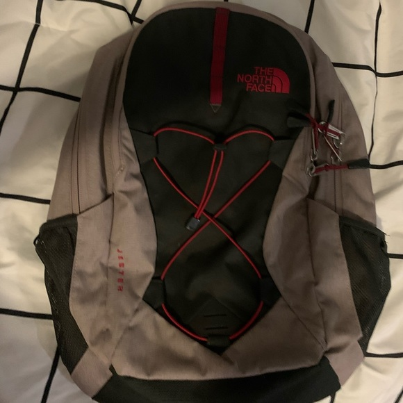 Pink & gray The North Face jester backpack